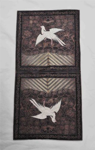 Chinese Antique Embroidery With Bird And Ocean photo