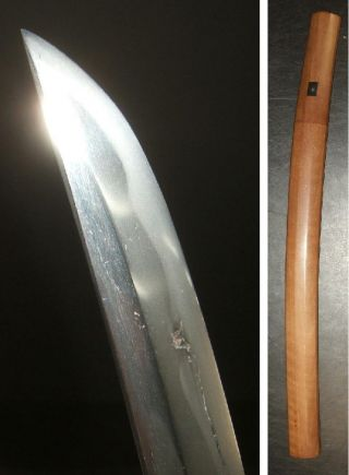 E789: Real Katana,  Japanese Samurai Middle Sword Wakizashi With Shirasaya photo