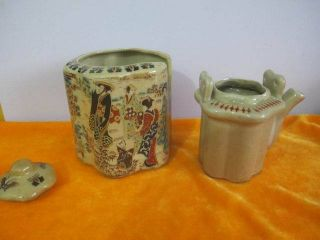 Porcelain Teapot Handle Chinese Old Antique photo