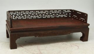 Chinese Miniature Carved Rosewood Day Bed - Apprentice Furniture - Oriental photo