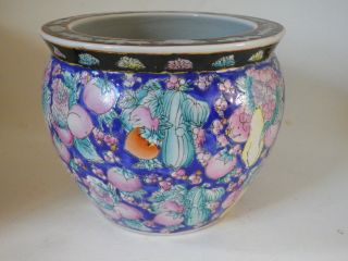 19th Century Chinese Hand Painted Fish Bowl Large photo
