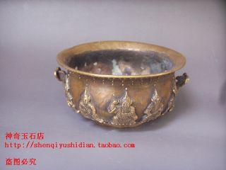 Js554 Rare,  Chinese Bronze Engraving Figural Figure Cornucopia photo