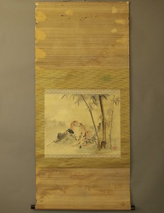 Japanese Hanging Scroll @b111 photo