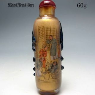 Chinese Inside Hand Painted Glass Snuff Bottle Nr/nc1923 photo