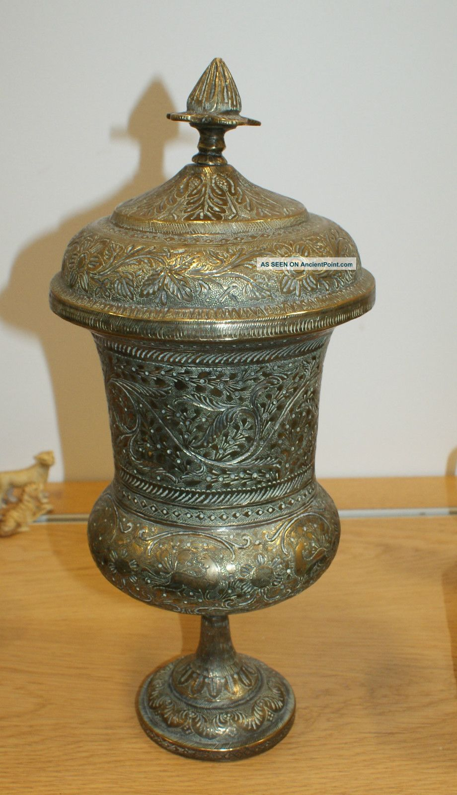Large antique brass vase cup cover urn middle east engraved large antique brass vase cup cover urn middle east engraved designs india asia reviewsmspy