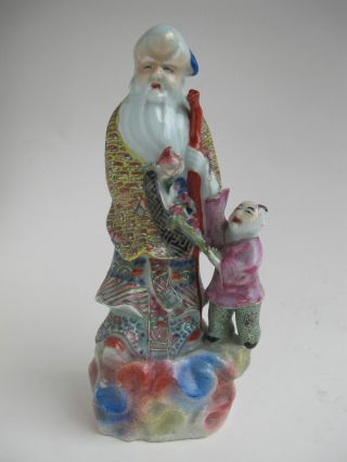 Antique Chinese Porcelain Figure Of Shou Lou photo