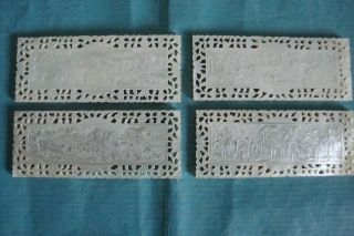 Chinese Carved Mother Of Pearl Mop Gaming Counters 19c Circa 1840 photo