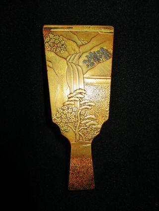 Amazing & Rare 18/19th C.  (edo) Antique Japanese Gold Lacquer Box Suzuribako photo
