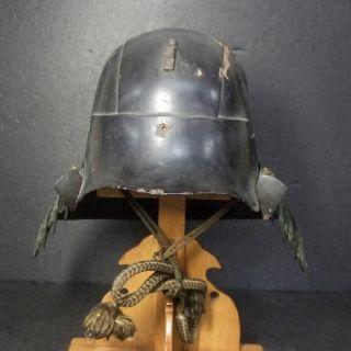 F235: Real Old Japanese Samurai Iron Helmet Kabuto Of Armor Yoroi In 1700 ' S photo