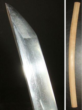 F273: Real Katana,  Japanese Samurai Middle Sword Wakizashi With Shirasaya photo