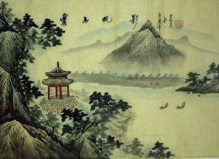 Japanese Hand Painted Painting Landscape @801 photo
