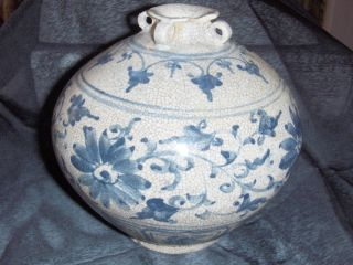 Blue Slip Glazed Circa 1450 Ming Dynasty Hoi - An Vietnamese Vase photo