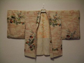 Antique 1920 ' S Japanese Kimono Haori photo