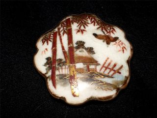 Satsuma - Ceramic Porcelain Hand Painted Buckle photo