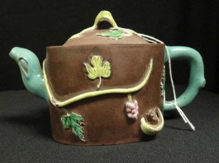 Antique Chinese Yixing Teapot 19th Or 20th Century photo