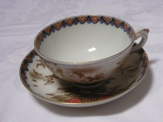 Japanese Fukagawa Koransha Cup And Saucer 1870 - 90 Handpainted Nr 2965 photo
