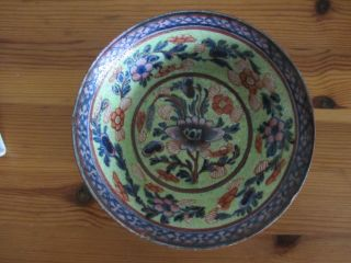 Antique Chinese 17th/18th Century Clobbered Porcelain Bowl photo