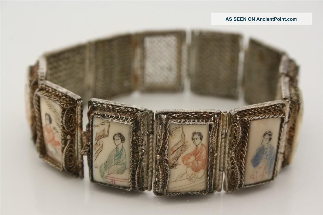 Rare,  Chinese Export Silver,  Filigree Bracelet,  C 1900 Other photo