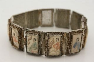 Rare,  Chinese Export Silver,  Filigree Bracelet,  C 1900 photo