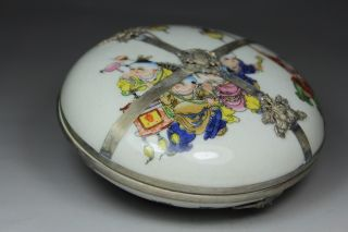 Chinese Handwork Porcelain  belle Flower Old Jewel Case photo