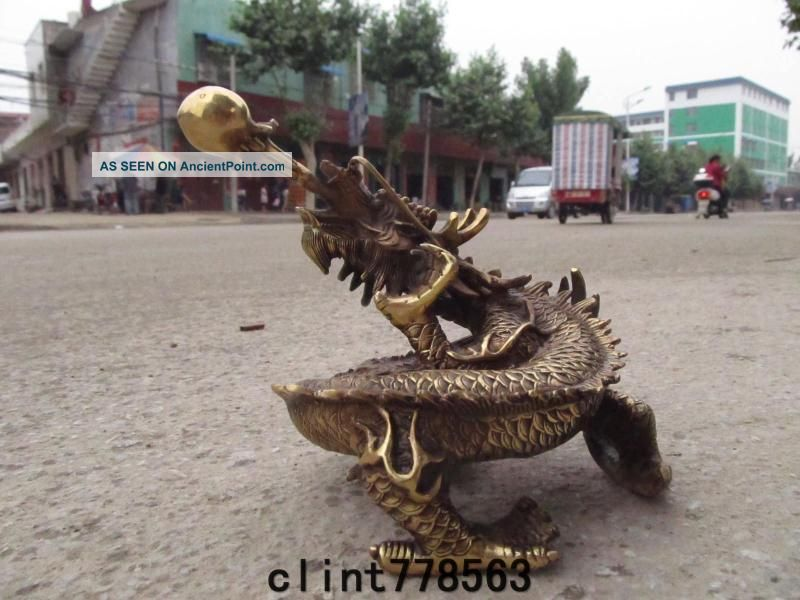 China Classic Imperial Family Favorites Brass Dragon Statues 240 Reproductions photo