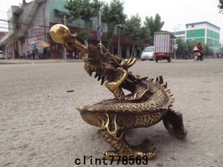 China Classic Imperial Family Favorites Brass Dragon Statues 240 photo
