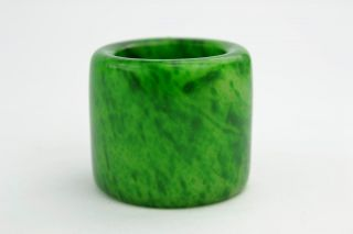 Asian Old Collectibles Decorated Wonderful Handwork Jade Burnish Ring Aaaaa photo