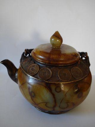 Antique Tea Pot From China.  Jade photo