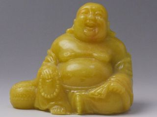 Chinese Stone Budai Ornament / Seven Lucky Gods Seal Stone Carving photo