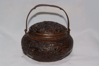 Chinese Bronze Incense Burner W Qian Long Mark Nr photo