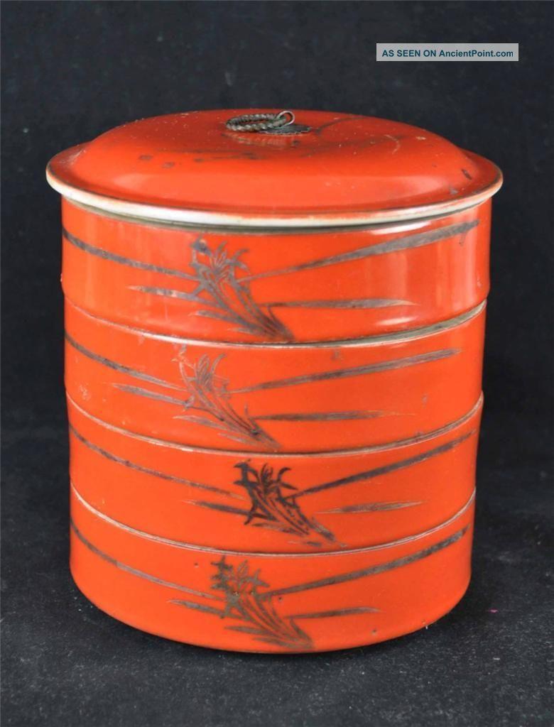 Antique Chinese Multi - Storey Porcelain Boxes Set Boxes photo