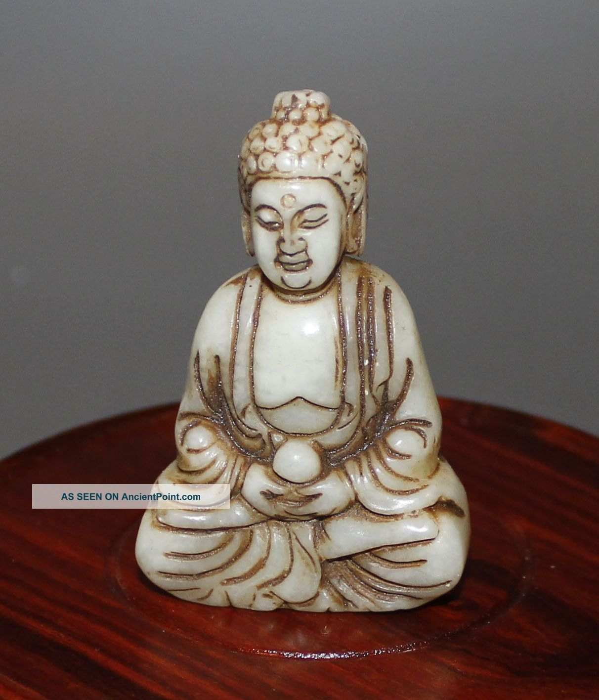 Ancient Chinese Old Hetian White Jade Hand - Carved,  Statues (buddha) Buddha photo