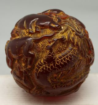 Amber Chinese Zodiac Ball Sheng Xiao - 12 Animals - Oriental photo