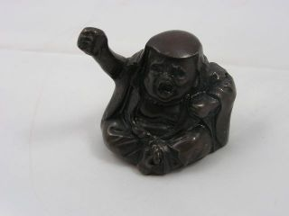 Antique Japanese Bronze Water Dropper Suiteki Daruma Late 19c Handmade Nr 2743 photo