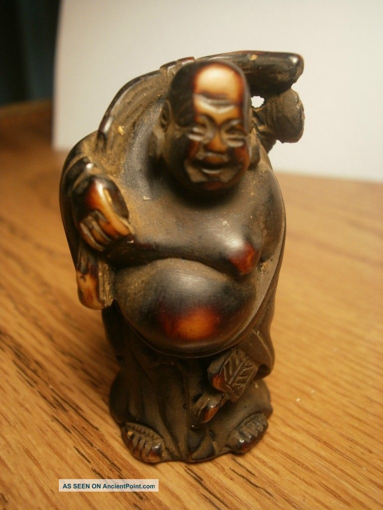 Chinese Antique Wood Carved Buddha Buddha photo