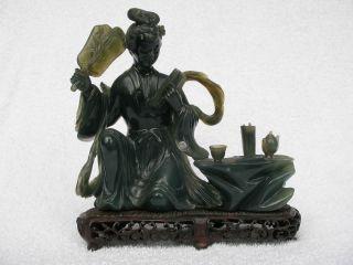 Chinese Bowenite Figure.  Good Condition. photo