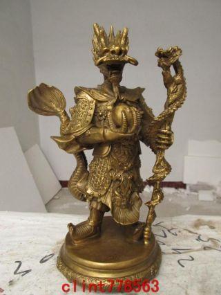 Chinatheroyalfamily Classic Brass Dragon King Statues photo