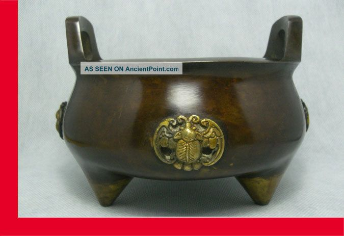 Chinese Bronze Incense Burner / Buddhism / Feng Shui / Taoism Supplies. Reproductions photo