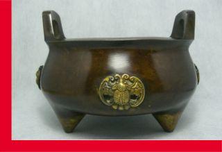 Chinese Bronze Incense Burner / Buddhism / Feng Shui / Taoism Supplies. photo