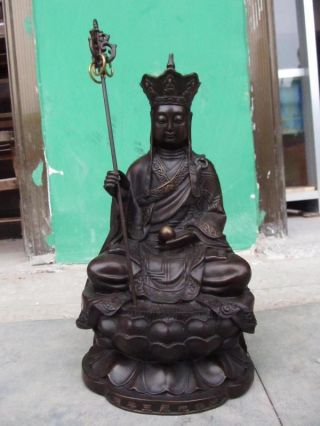 China Imperial Household Consecrate Bronze Ksitigarbha Statues28 photo