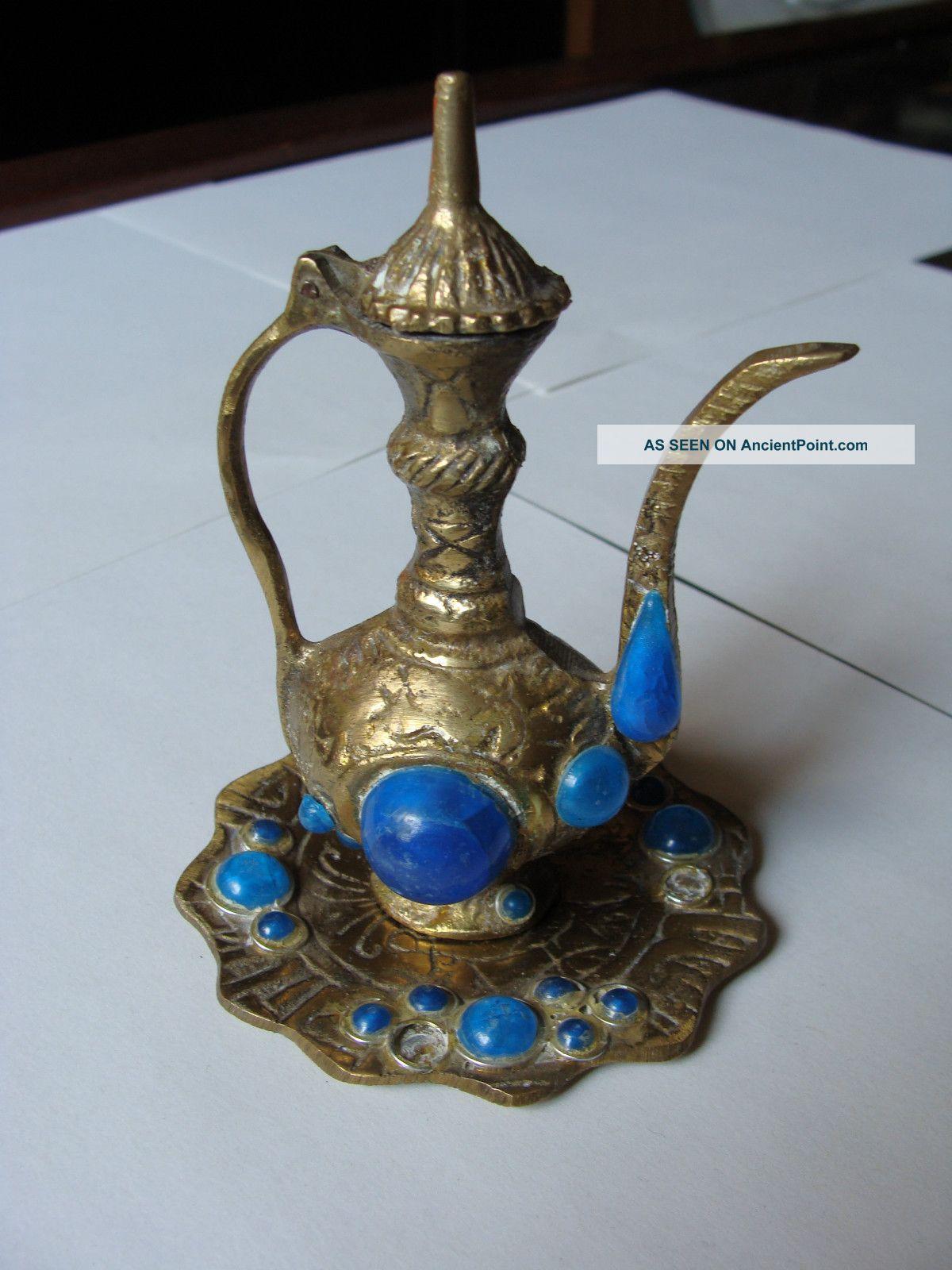 Islamic Bronze Water Jug Middle East photo