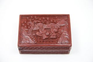 Antique Cinnabar Box photo