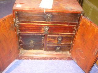 Antique Chinese Wedding Chest 1850 ' S Very Rare Old Collectible Item - Shanxi photo