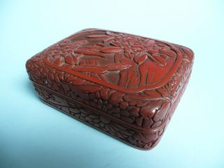 Antique Chinese Cinnebar Box. . . . . . . . . . . . . . . . . . . . . . . . . . . . . . . . . . . . . . . . . . . .  Ref.  3697 photo