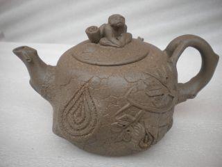 China Chinese New Yixing Purple Clay (zisha) Pottery Teapot 382 photo