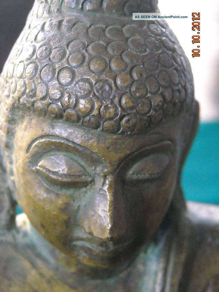 An Antique Bronze Statue 17 Th Century? Millers Antiques. Buddha photo
