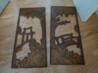 Vintage Wood Panels / Wall Hangings - Bridge & Temple photo