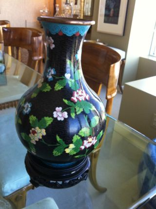 Chinese Cloisonne Vase Art High Quality - Many Colors photo