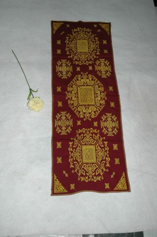 Asian Antique Chinese Silk Embroidered Painting Panel Hmong Embroidery Kimonos photo