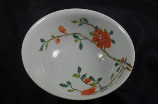 Chinese Antique Graceful Famille Rose Porcelain Flowers Bowls photo